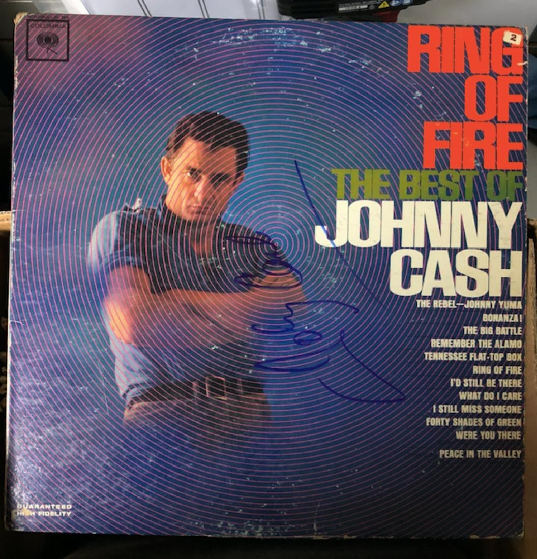 Signed Johnny Cash Ring Of Fire