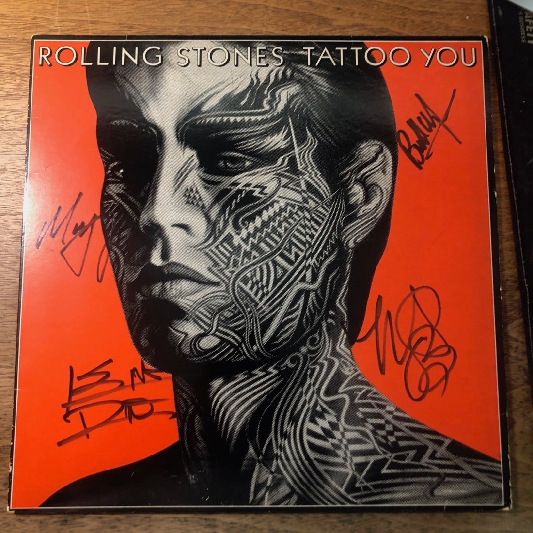 Signed Rolling Stones Tattoo You Album