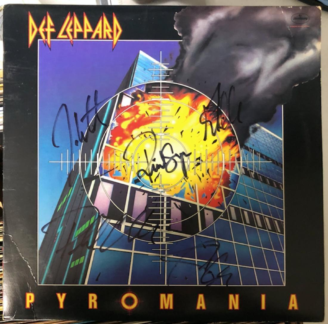 Signed Def Leppard Pyromania