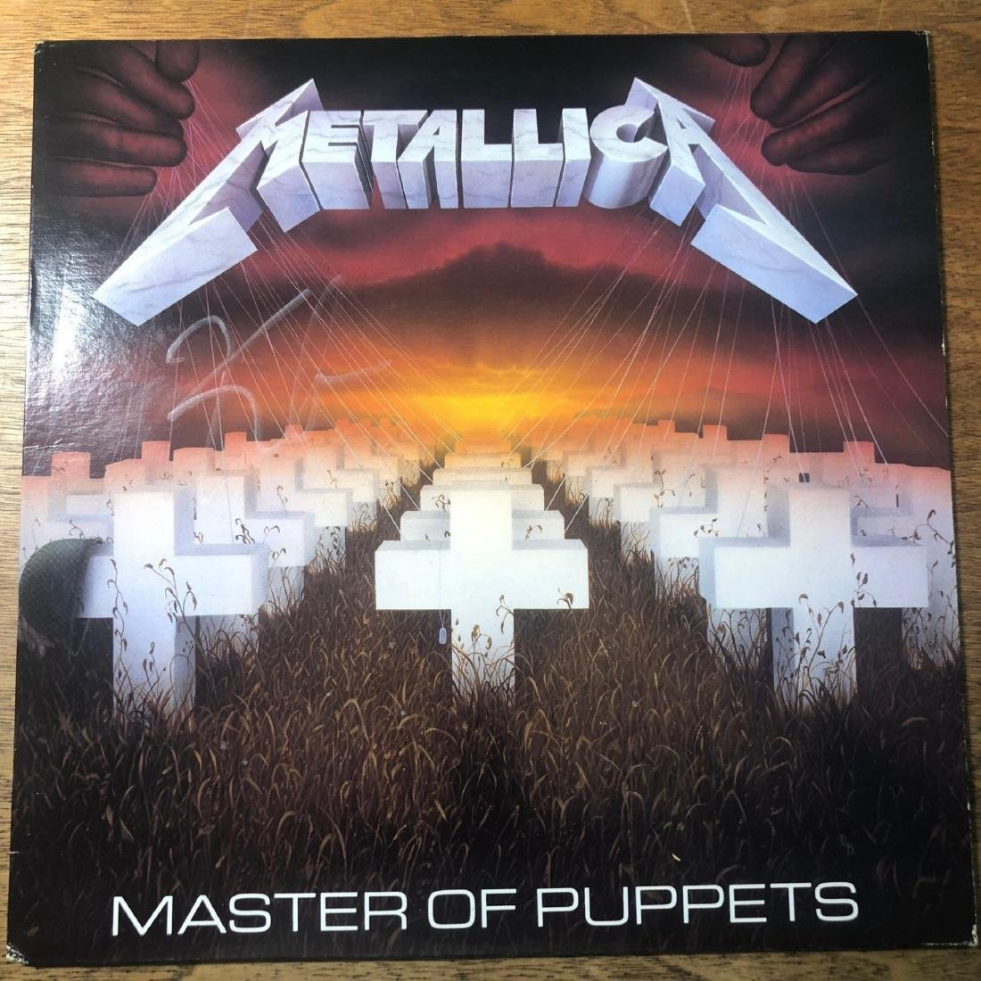 Signed Metallica Master Of Puppets Signed Album