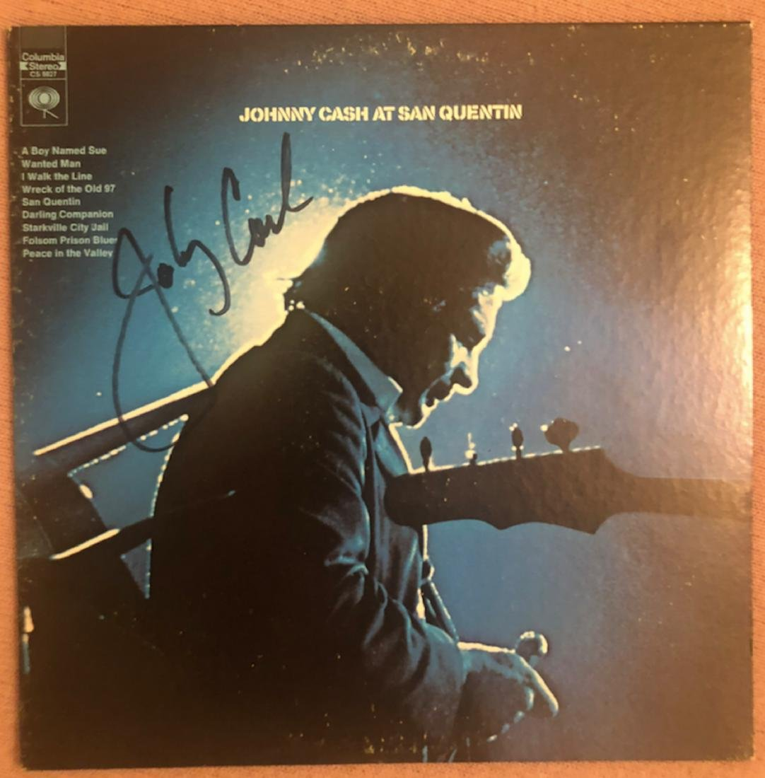 Signed Johnny Cash San Quenton Album