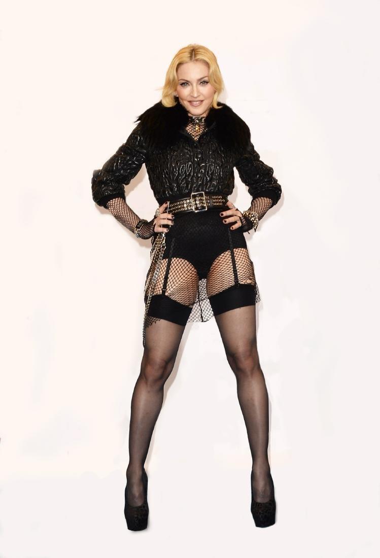 Madonna In Garters Las Vegas 2013