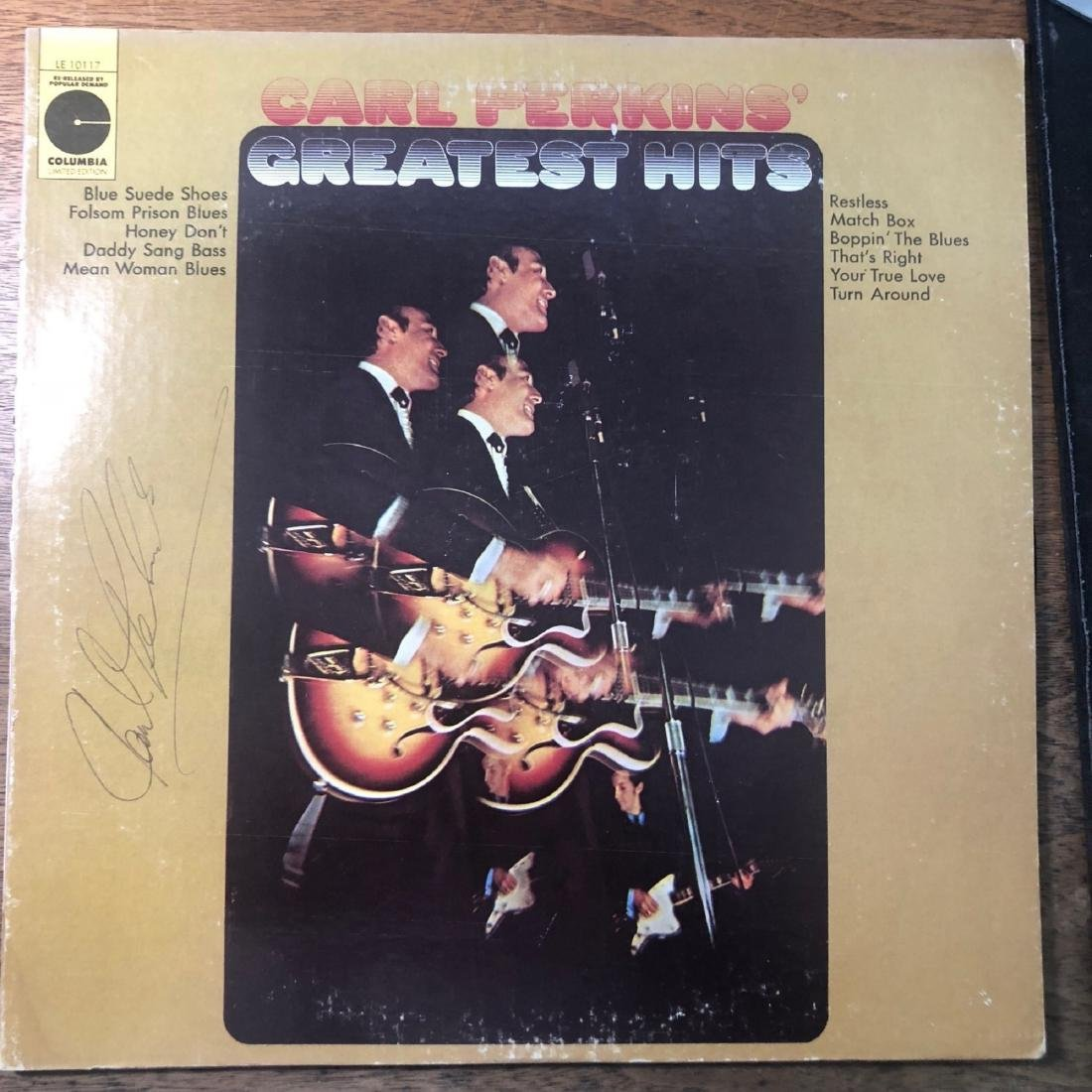 Signed Carl Perkins Greatest Hits Album