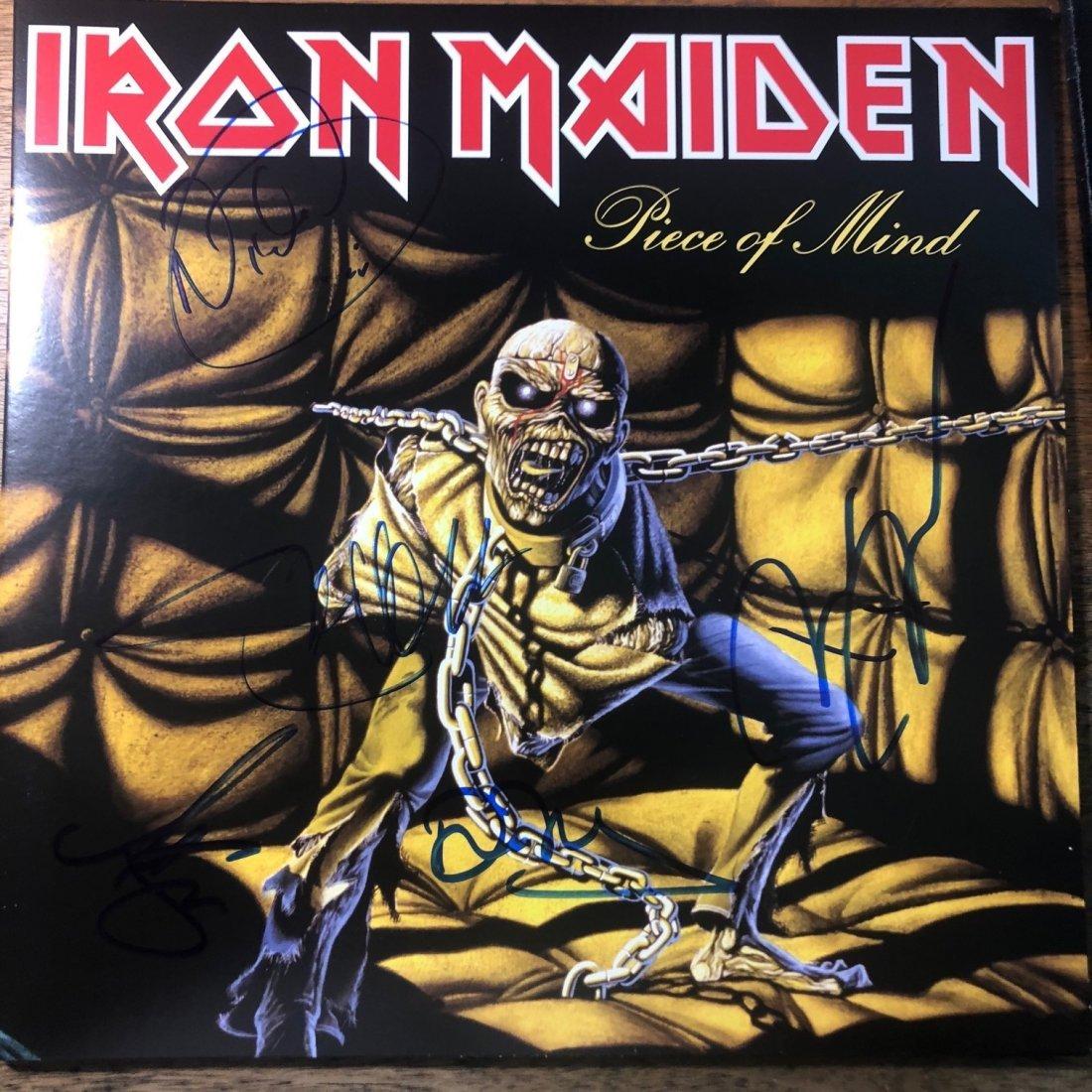 Signed Iron Maiden Piece Of Mind Album