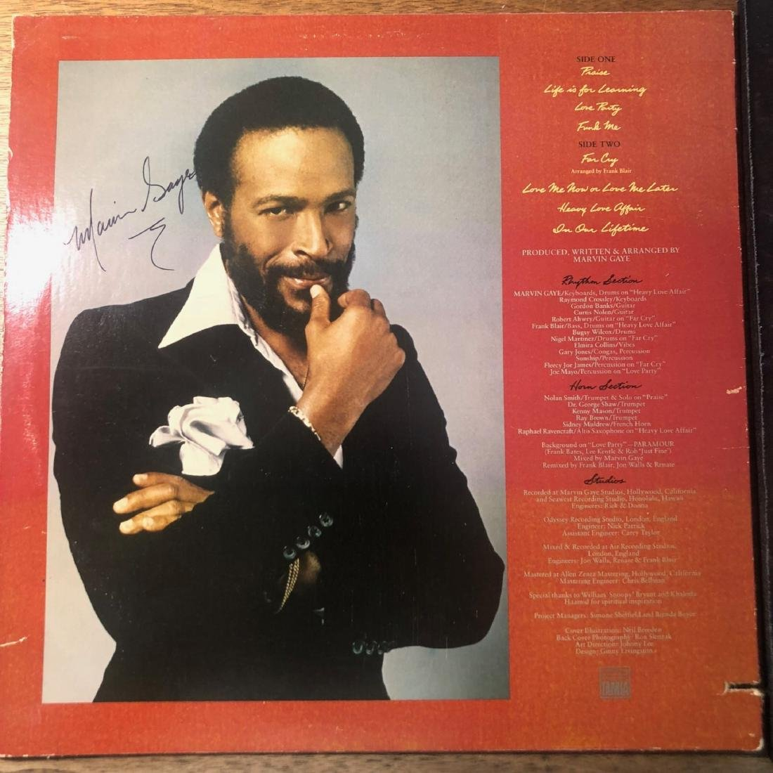 Signed Marvin Gaye In Our Lifetime Album