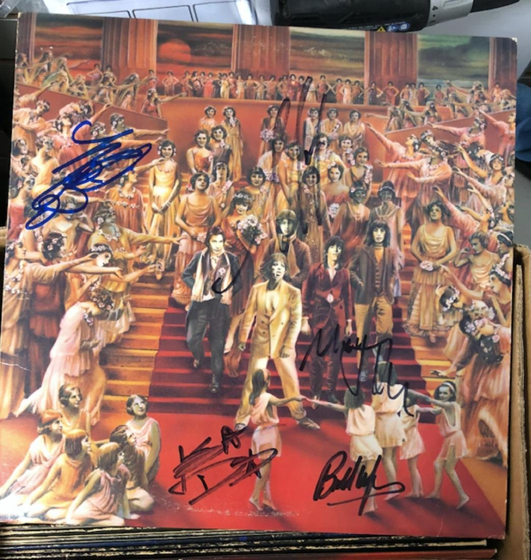 Signed Rolling Stones Only Rock and Roll