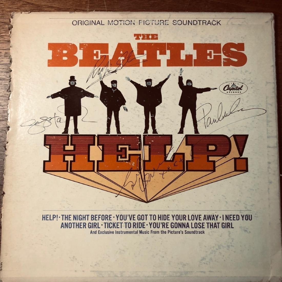 Signed Beatles Help Album