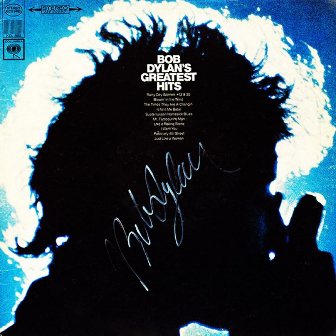 Signed Bob Dylan Greatest Hits Album