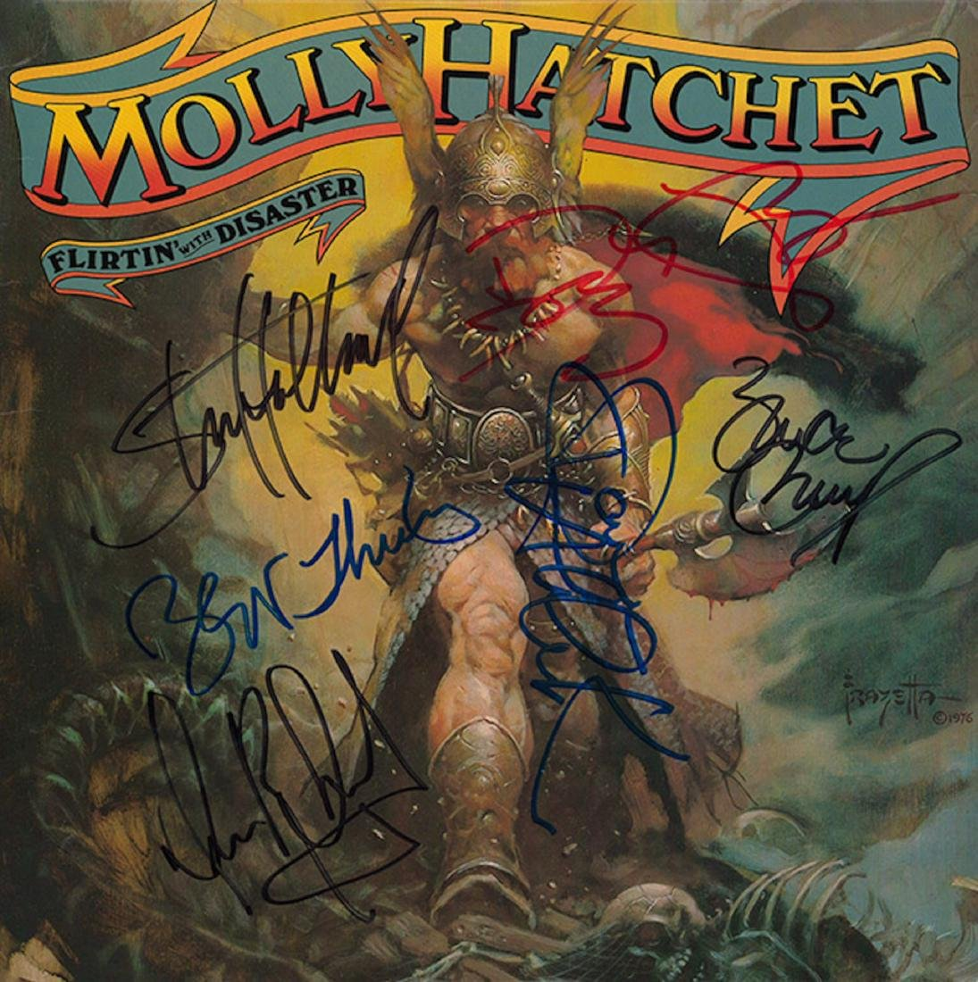 Signed Molly Hatchett Flirtin' With Disaster Album
