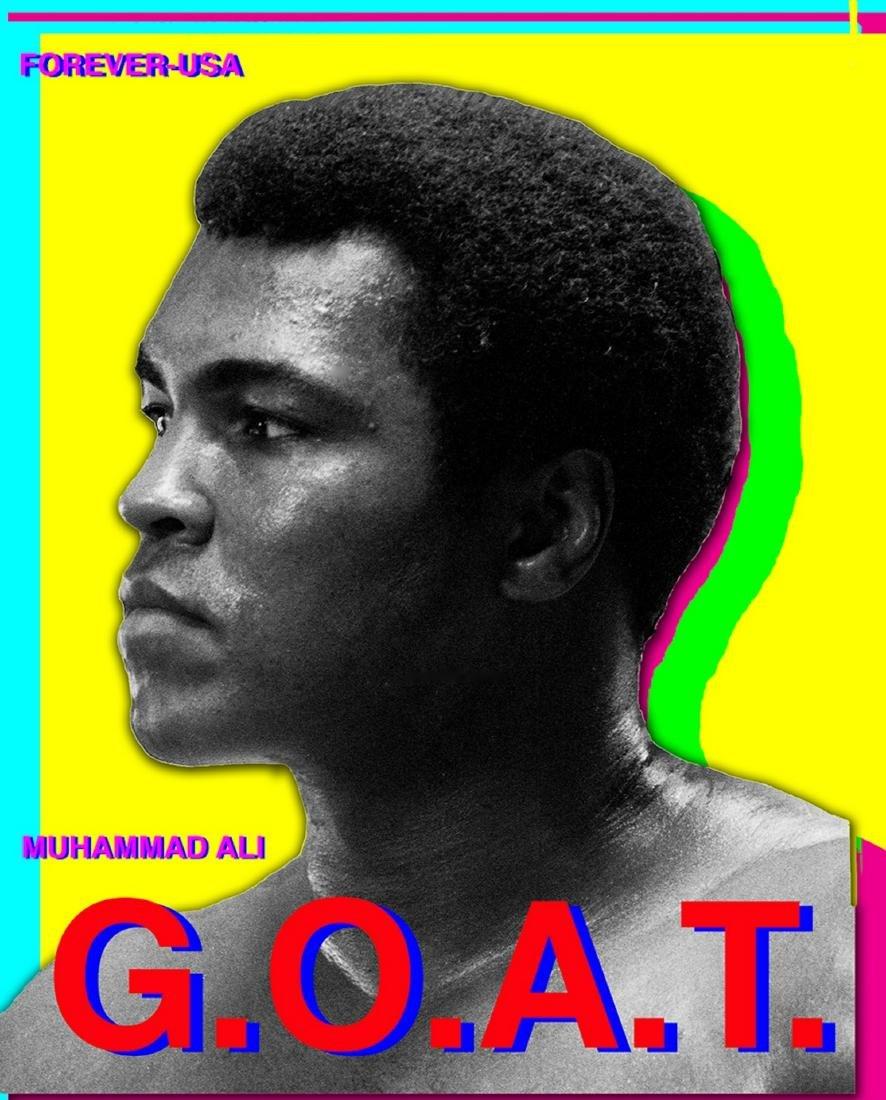 Muhammad Ali GOAT Pop Art  1978