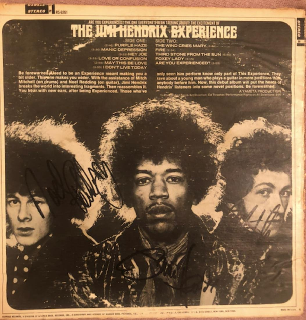 Signed Jimi Hendrix Are You Ezxperienced