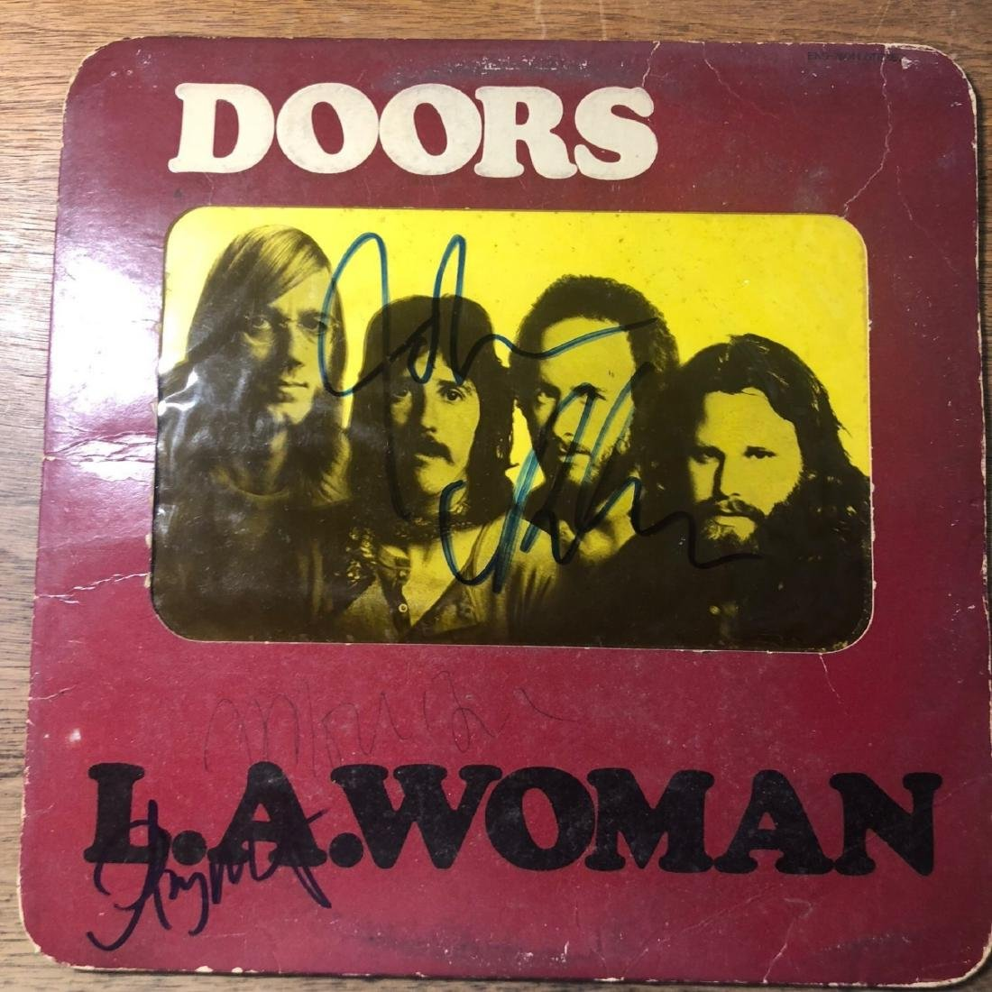 Signed Doors LA Woman Album