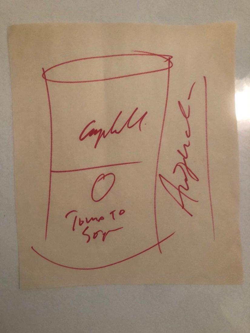 Signed Andy Warhol Sketch