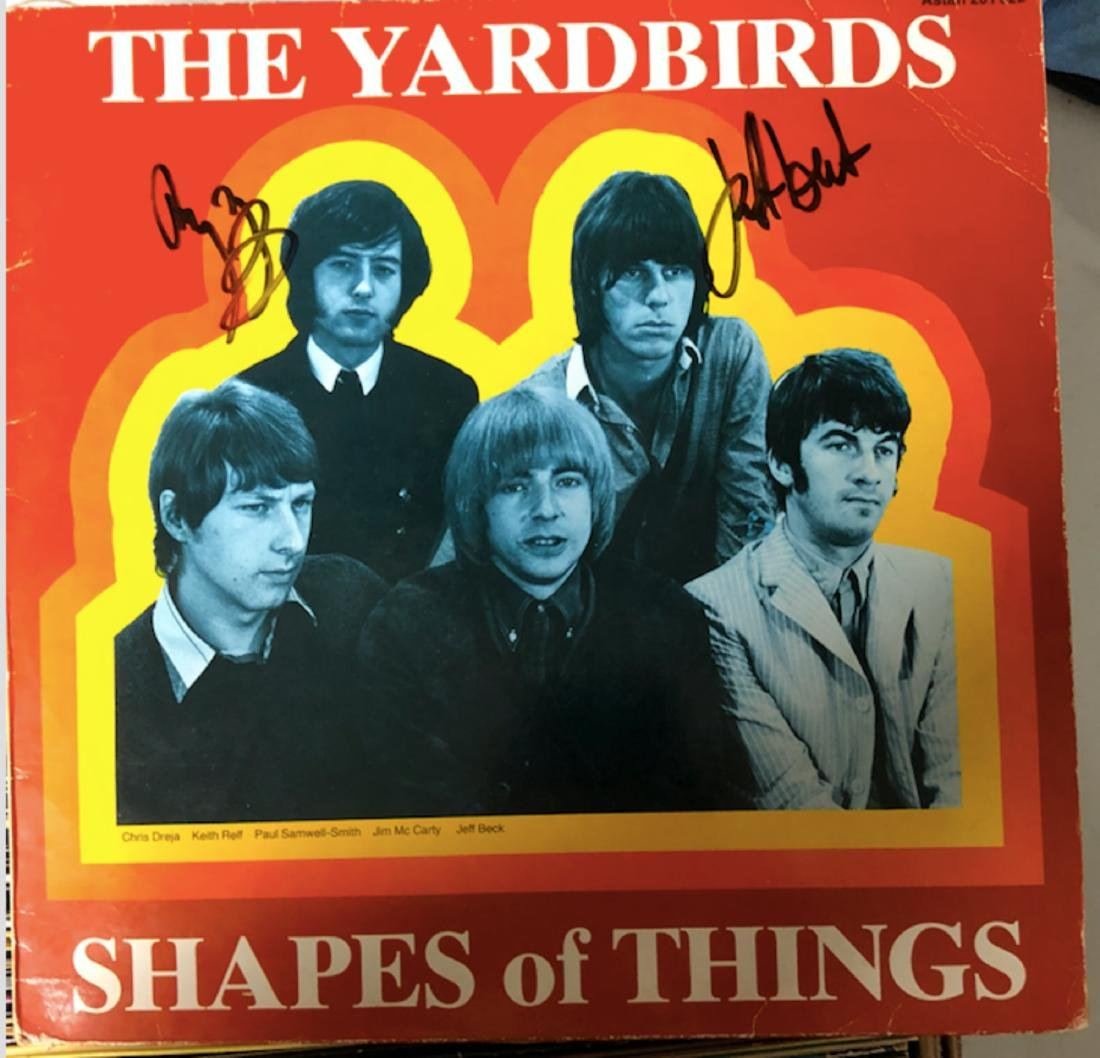 Signed Yardbirds Shapes of Things