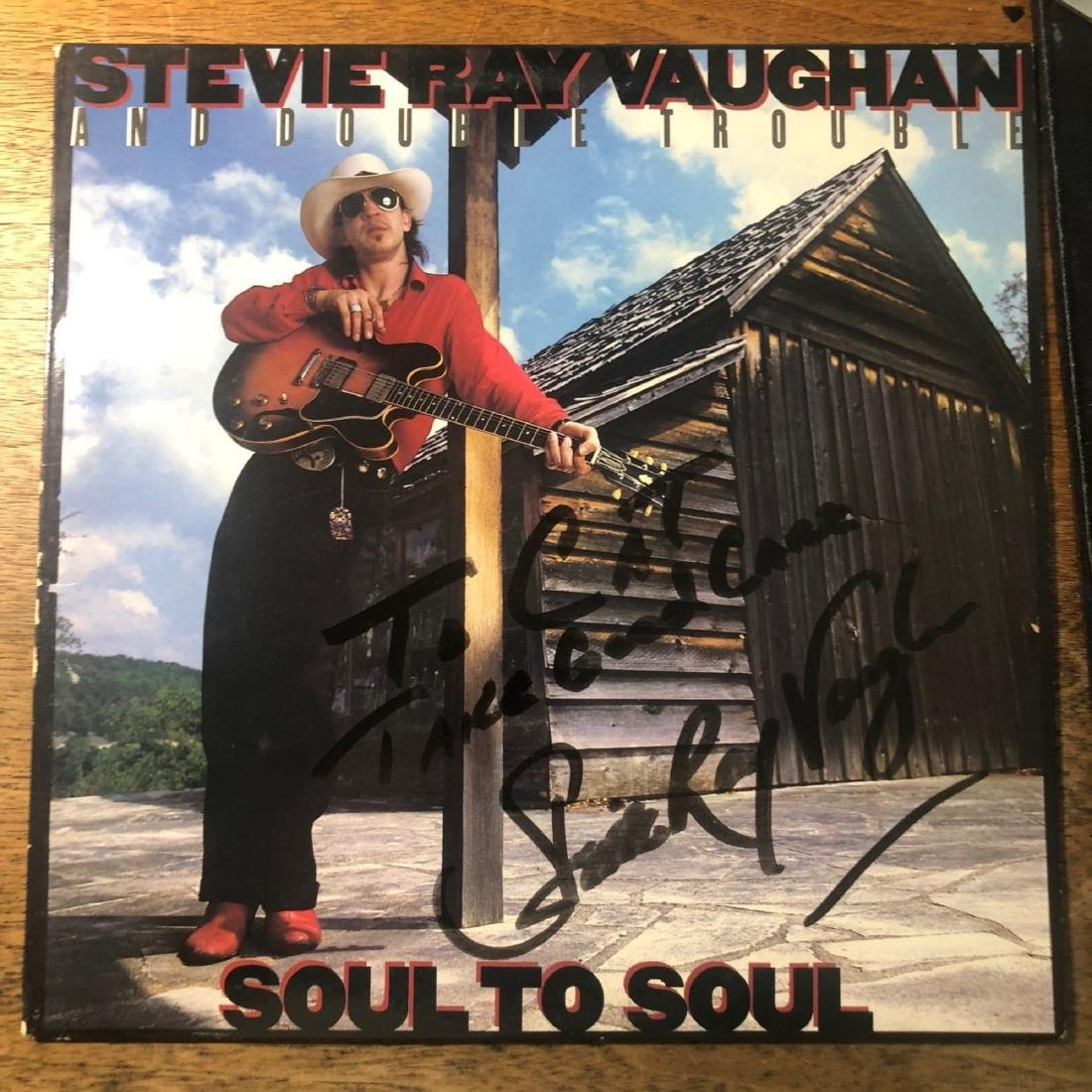 Signed Stevie Ray Vaughan Soul To Soul Album