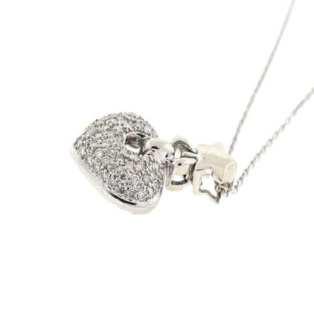 18k  Gold Diamond Heart Pendant Necklace - 2