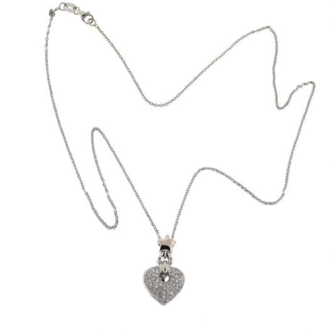 18k  Gold Diamond Heart Pendant Necklace - 3