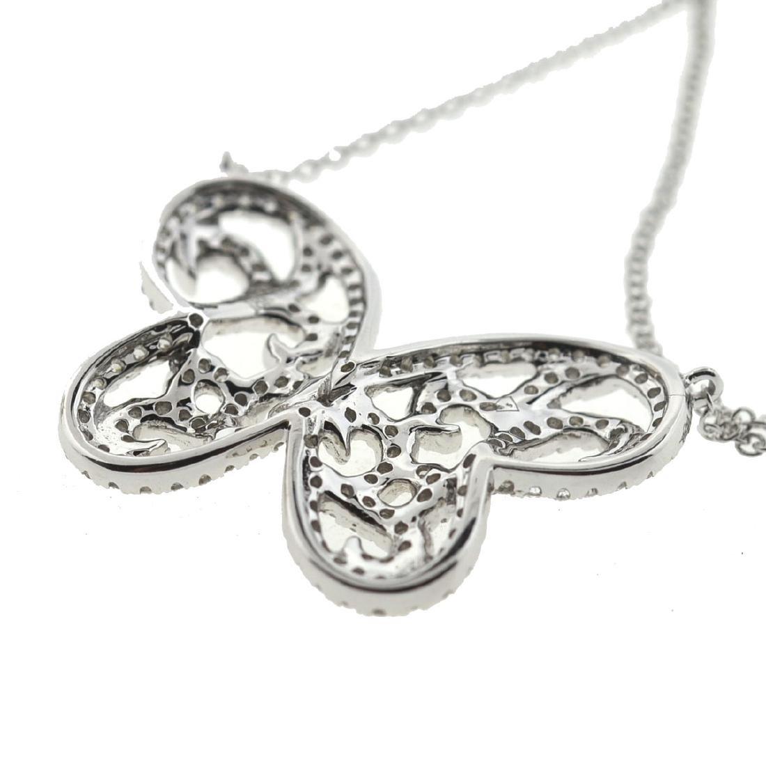 18k Gold Diamond Butterfly Necklace - 3