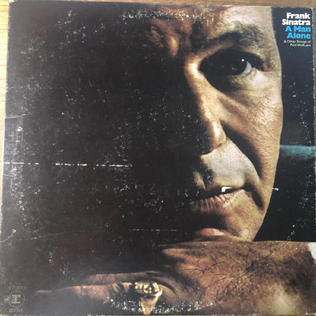 Signed Frank Sinatra A Man Alone Album