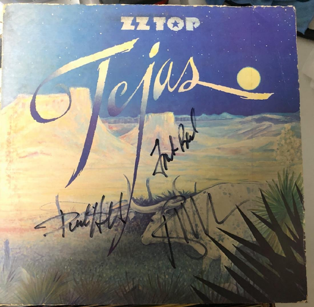 Signed ZZ Top Tejas Album