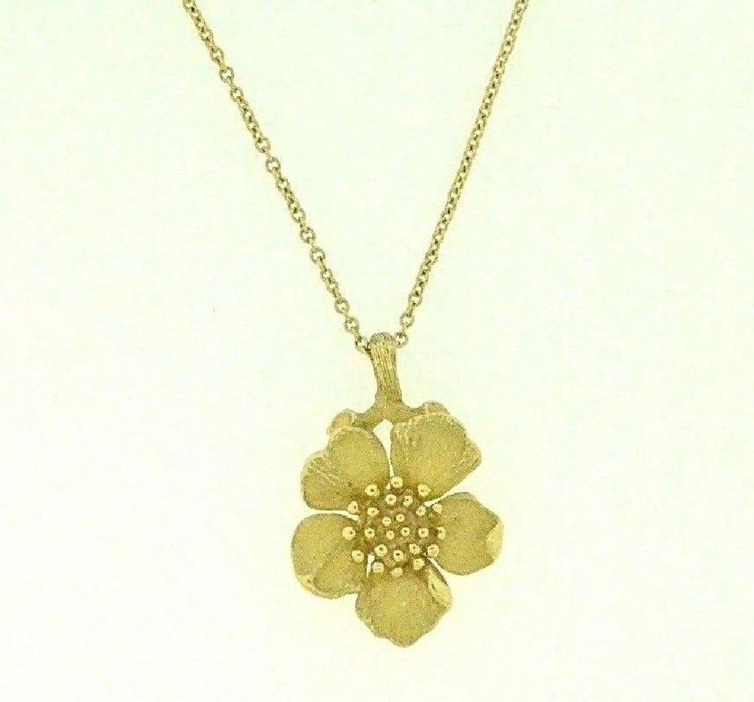 05df541c6 Vintage Tiffany & Co 18K Dogwood Flower Chain Necklace - Dec 23, 2018 |  Laguna Beach Auction House in CA