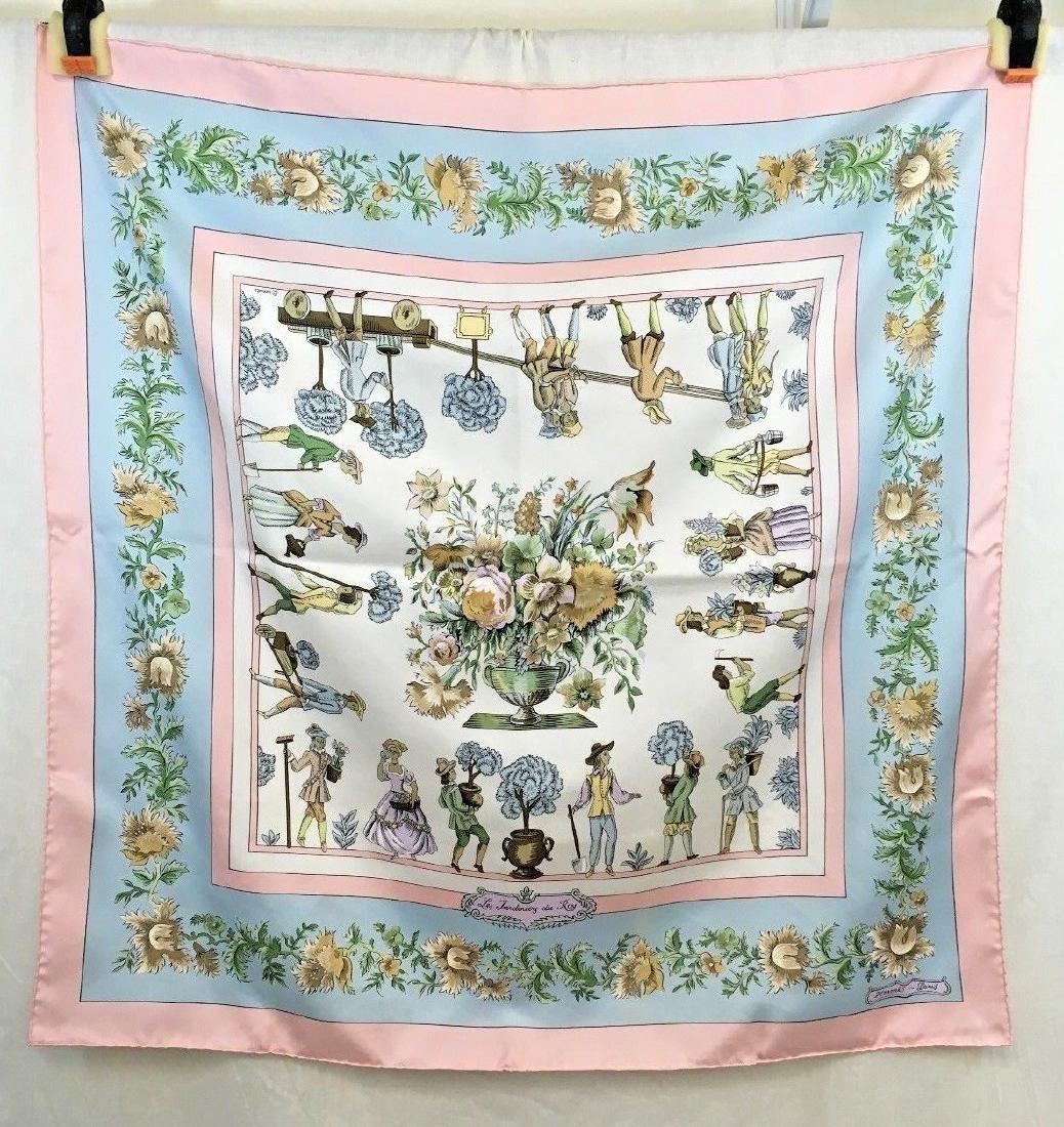 Hermes LES JARDINIERS DU ROY silk scarf