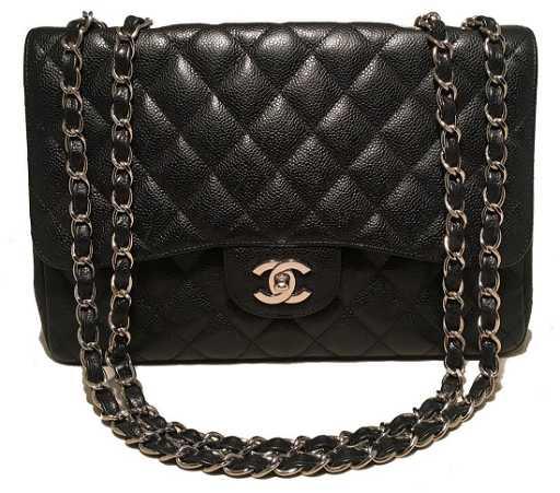 e8f196ca44d0a5 Chanel Caviar Jumbo Single Flap Bag