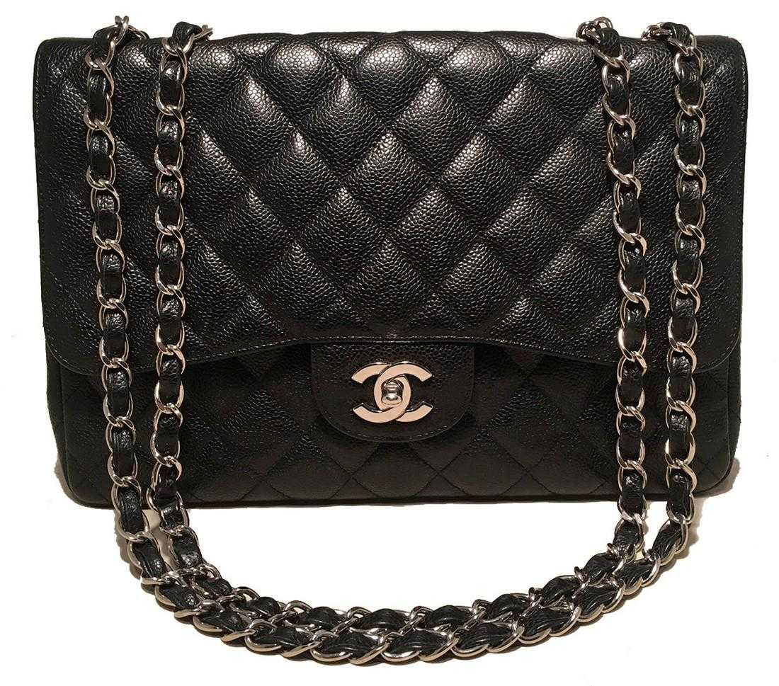 03a464f03dac Chanel Caviar Jumbo Single Flap Bag