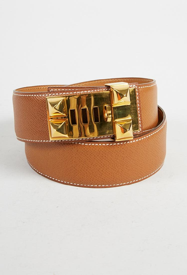 Hermes leather belt (70)