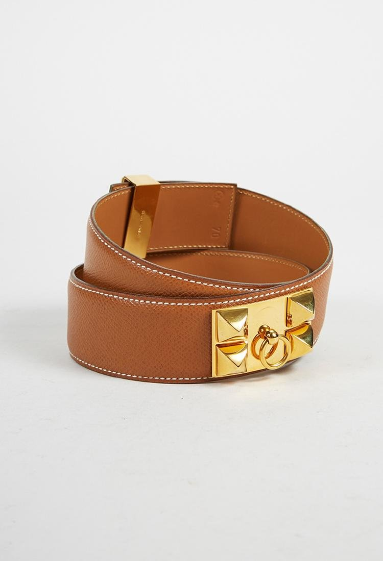 Hermes leather belt (70) - 2