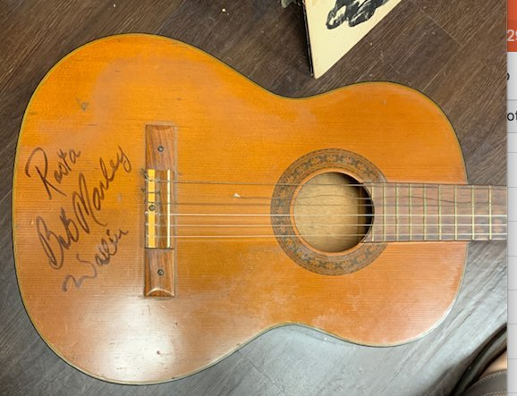 Signed Bob Marley Guitar