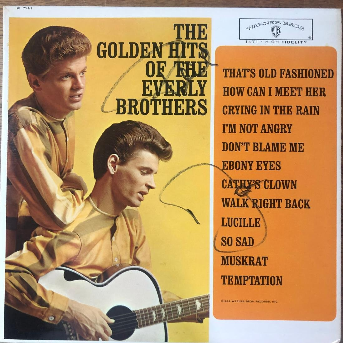 Signed Everly Brothers Album