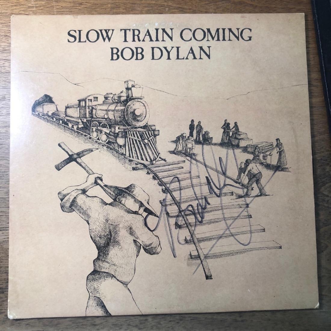 Signed Bob Dylan Slow Train Album