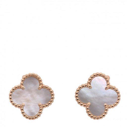 Van Cleef Arpels Mop Earrings Placeholder See Sold Price