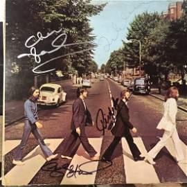 Signed Beatles Abbey Road Album
