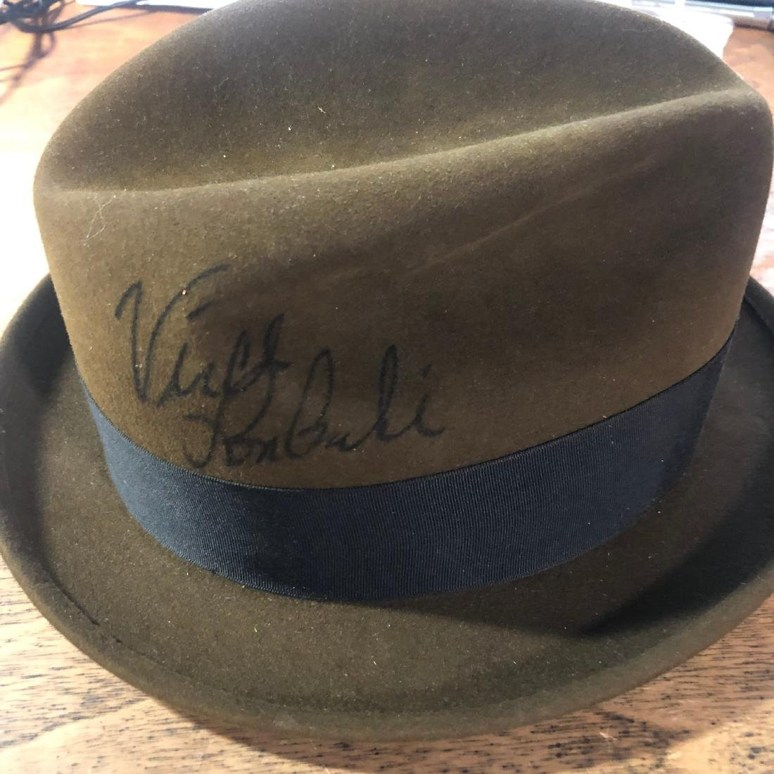 Signed Vince Lombardi Hat