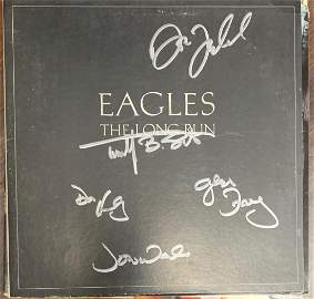 Signed Eagles The Lpng Run Album