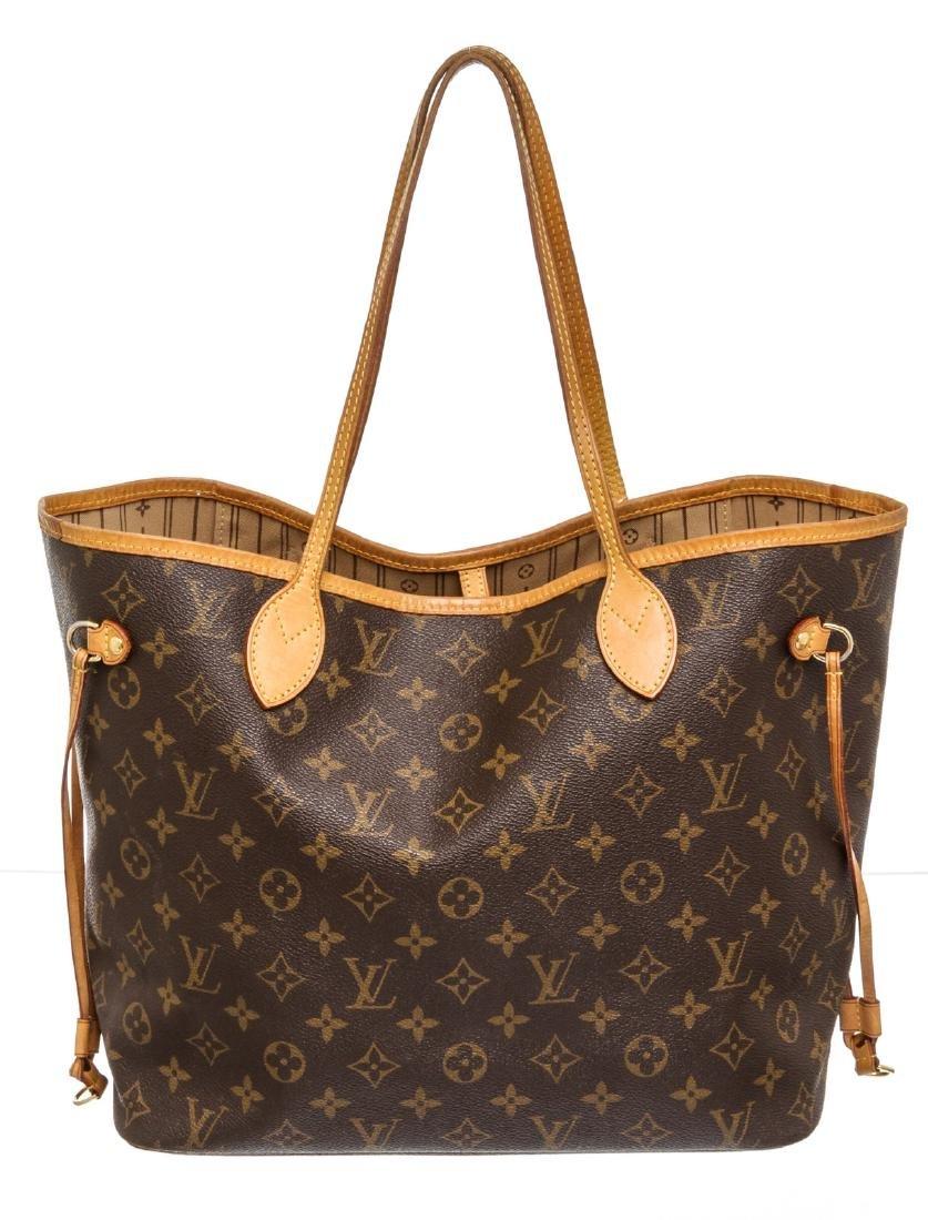Louis Vuitton Brown Monogram Neverfull MM Tote Bag