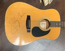 Signed Johnny Cash Acoustic Guitar