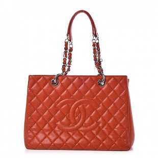 4a16b95c104bae CHANEL Large Shopping Bag Quilted Beige Caviar Leather