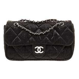 38462a2835fbfd Chanel Black Nylon Flap Shoulder Bag