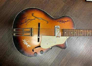 Signed Beatles Hollow Body Guitar