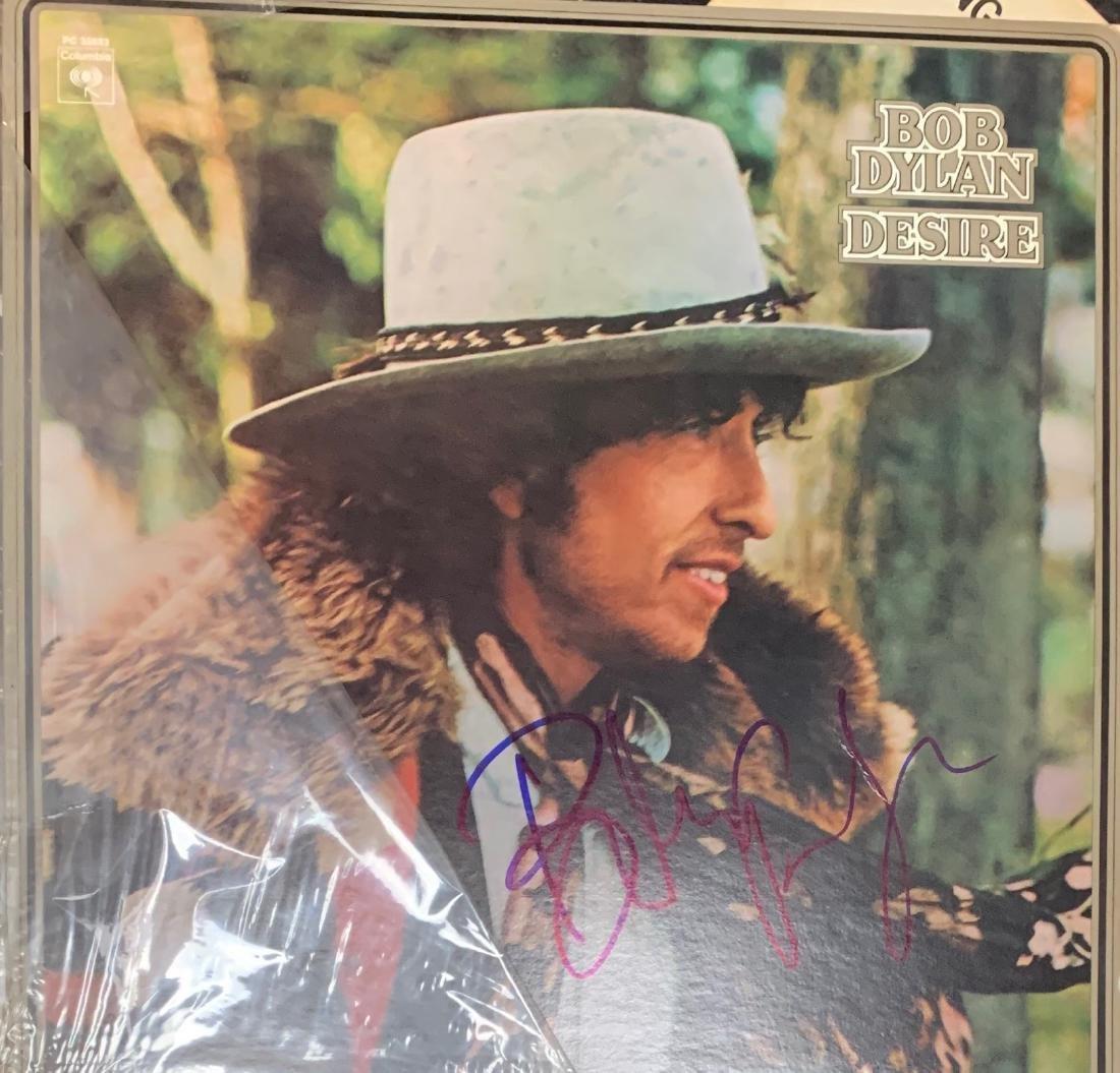 Signed Bob Dylan Desire Album
