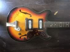 Signed Bob Marley Hollow Body Guitar
