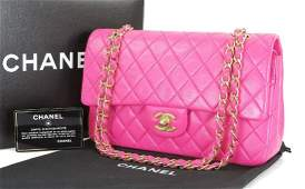 CHANEL Pink Double Flap