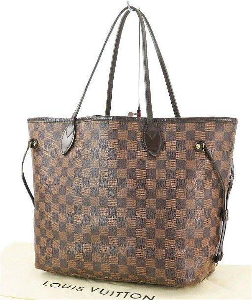 online here variety of designs and colors hot product LOUIS VUITTON Neverfull MM Damier Ebene Tote Bag Purse