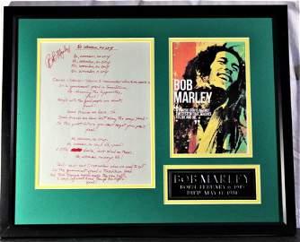 Signed No Woman No Cry Lyrics - Bob Marley