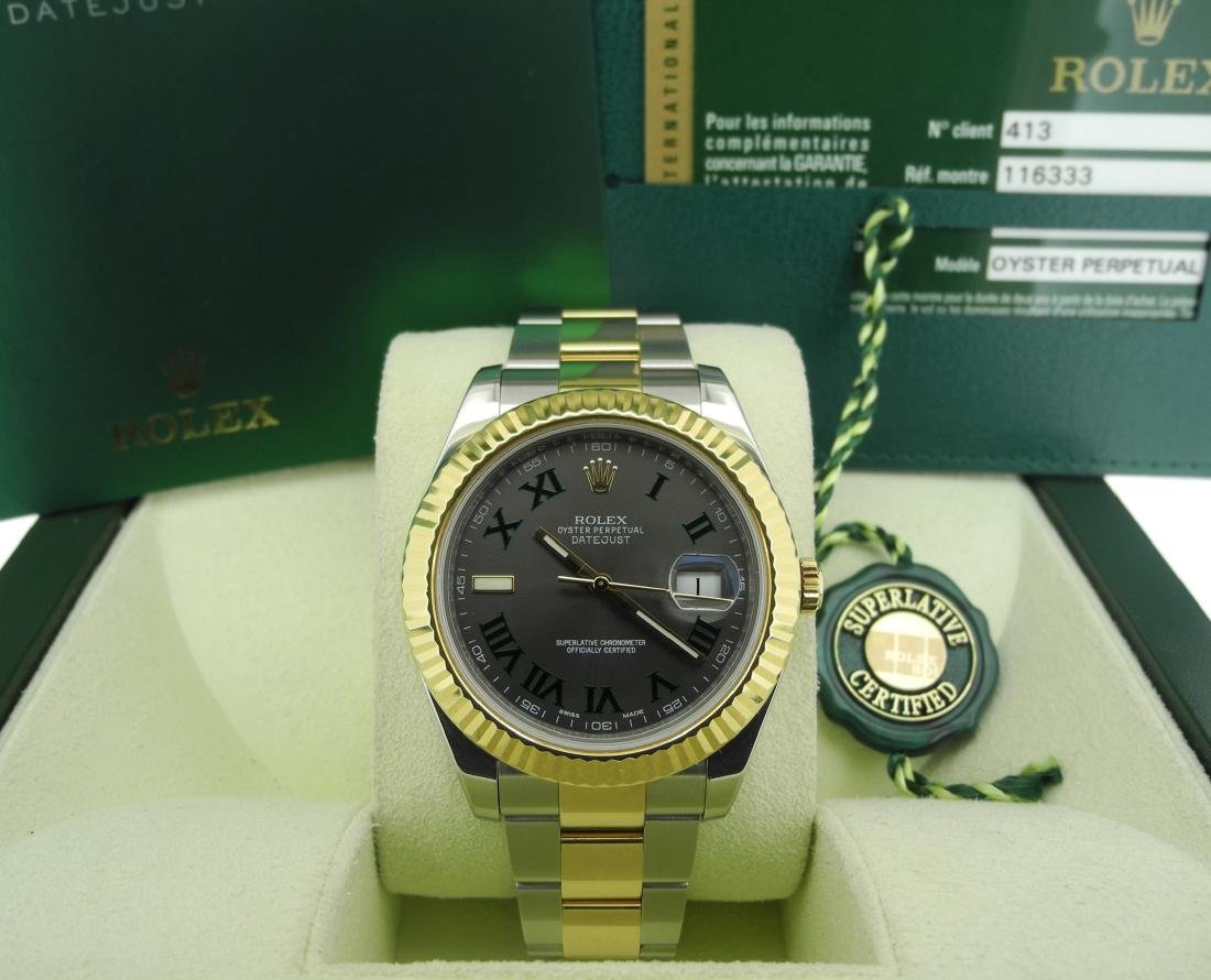 Rolex Datejust 116333 Two-Tone with Roman Numeral Dial