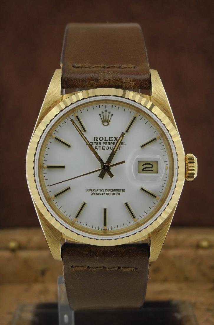 Rolex Datejust 16018 with White Porcelain Dial - 2