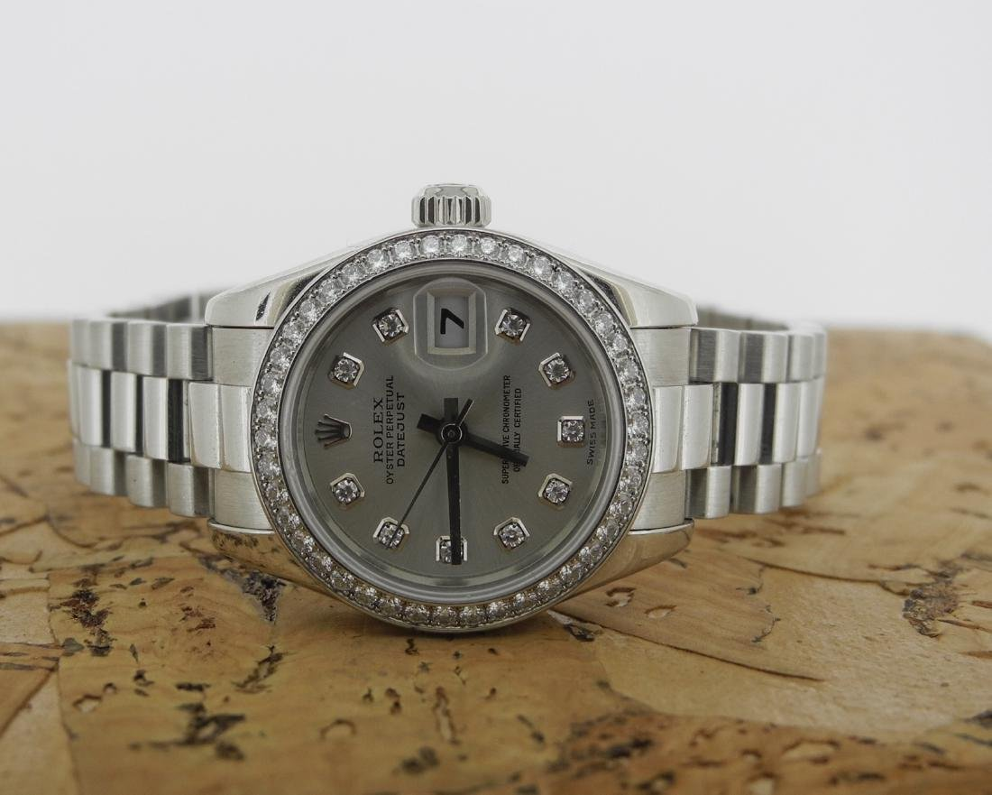 Rolex Datejust 179136 in Platinum with Diamonds